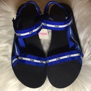 NWT Victoria's Secret pink Velcro sandals